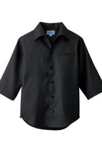 ショップコート(和風飲食店用シャツ)(黒)