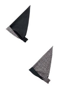 リバーシブルバンダナ帽/消炭色