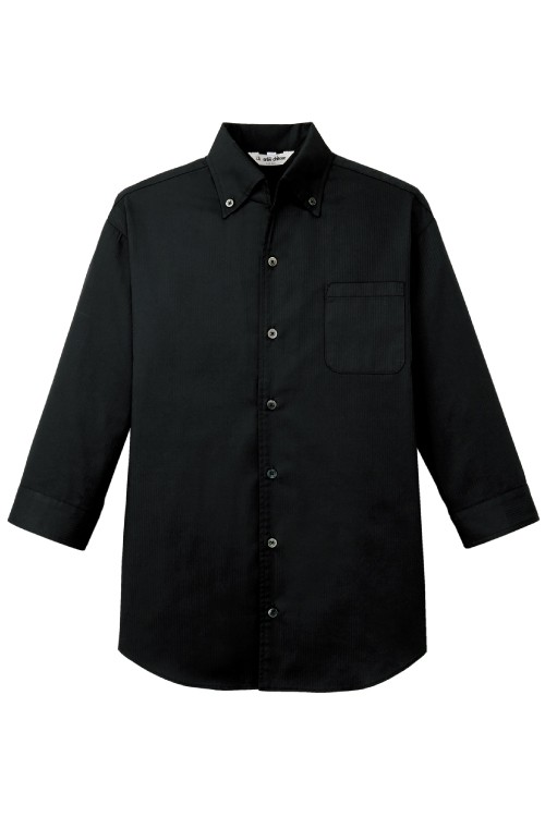ボタンダウン七分袖シャツ