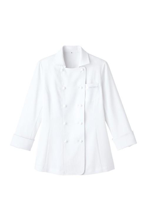 襟元がオシャレな吸汗速乾レディスコックシャツ