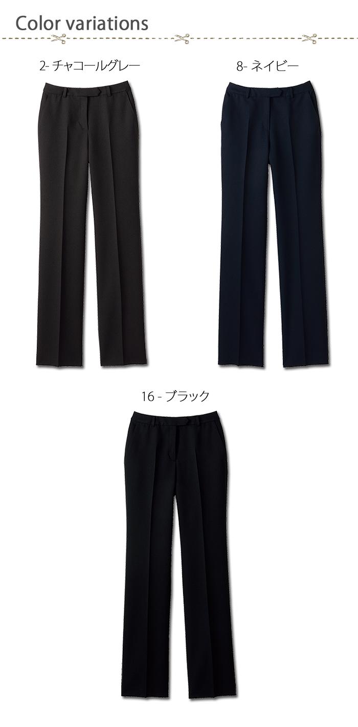 FP6313L光沢あるストレッチパンツ(女性用) 色展開画像