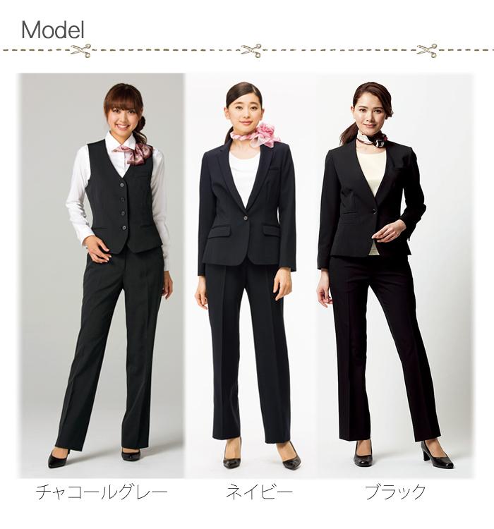 FP6313L光沢あるストレッチパンツ(女性用) モデル着用例画像